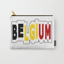 Belgium Font #1 with Belgian Flag Carry-All Pouch