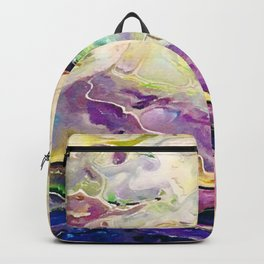 Marbled Sunset Abstract Backpack