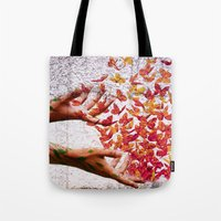 butterflies Tote Bags featuring Butterflies by Lia Bernini