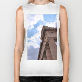 Sky above Parthenon Biker Tank