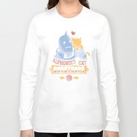 fullmetal Long Sleeve T-shirts featuring Alphonse's Cat Sanctuary by adho1982