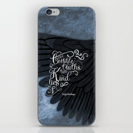 Six of Crows book quote design iPhone Skin