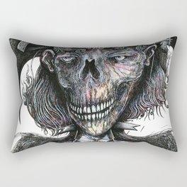 Feminine Skull Rectangular Pillow