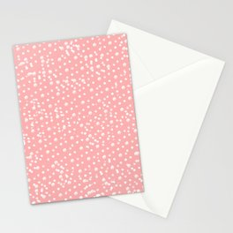 Dotted - Coral Stationery Cards