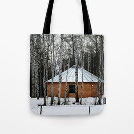 Yurt in the Birch Tote Bag