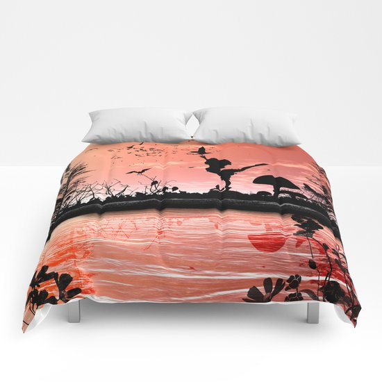 Dancing with the birds Comforters