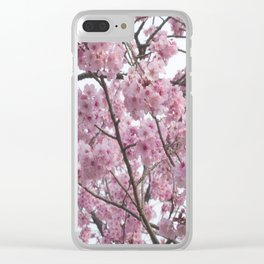 Cherry Blossom Trees. Pink flowers Clear iPhone Case