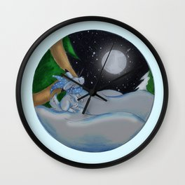 The Festive Moon Wall Clock