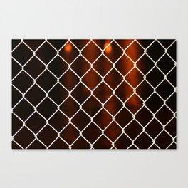Fire Through Wire Canvas Print