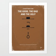No090 My The Good The Bad The Ugly minimal movie poster Art Print