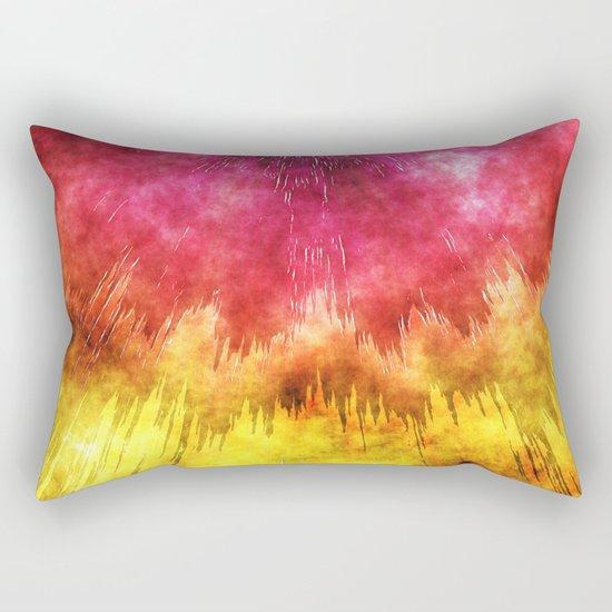 Colorful Textured Tie Dye Rectangular Pillow