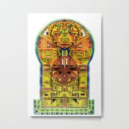 Eb Yellow Human Metal Print