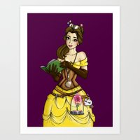 Steampunk Belle - Beauty and the Beast Art Print