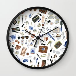 Girly Objects Wall Clock
