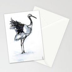 Crane, Watercolor Stationery Cards