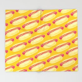Hot Dogs! Throw Blanket
