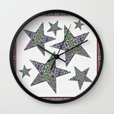 Starry Garden Wall Clock
