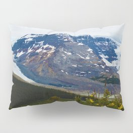 The Athabasca & Snow Dome Glaciers in Jasper National Park, Canada Pillow Sham