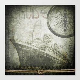 Steam Ship Ahoy Canvas Print