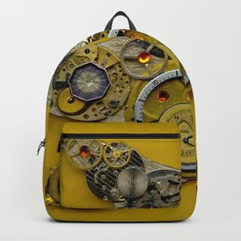 Steampunk Bird Gold Backpack
