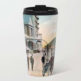 Pier Gates Llandudno Wales 1890 Travel Mug