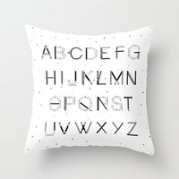 font Throw Pillows featuring Craft Font by neuprouns