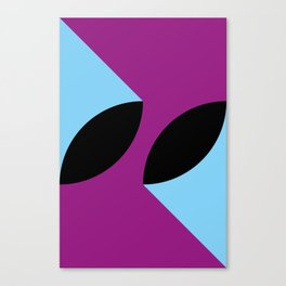 Two 3d seeds being thrown strongly, in a purple space. Canvas Print