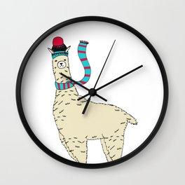 Knit with 100% Alpaca Wool Wall Clock