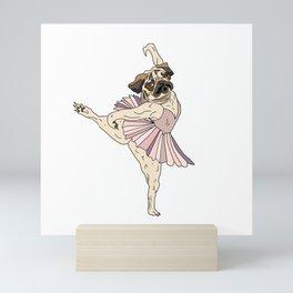 Dog Ballerina Tutu - Pug Mini Art Print