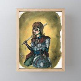 Portrait of Shieldmaiden Framed Mini Art Print