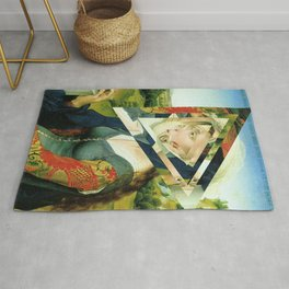 another portrait disaster · square 2 Rug