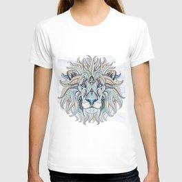 Blue Grey Ethnic Lion T-shirt