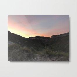 Summer Sunset Over Montana Sagebrush Metal Print