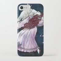 coven iPhone & iPod Cases featuring Coven - Dancing Witch by Lorena Garcia