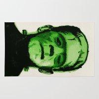 frankenstein Area & Throw Rugs featuring Frankenstein  by Bonez Designz