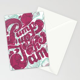 Pump Up the Jam Stationery Cards