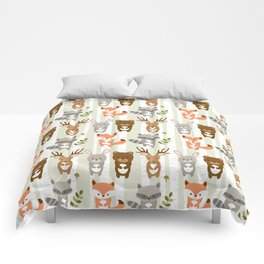 Cute Woodland Forest Animals Comforters