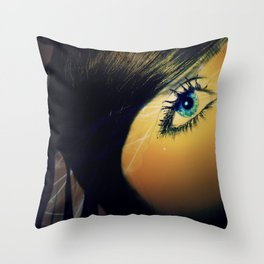 Her Eyes Throw Pillow