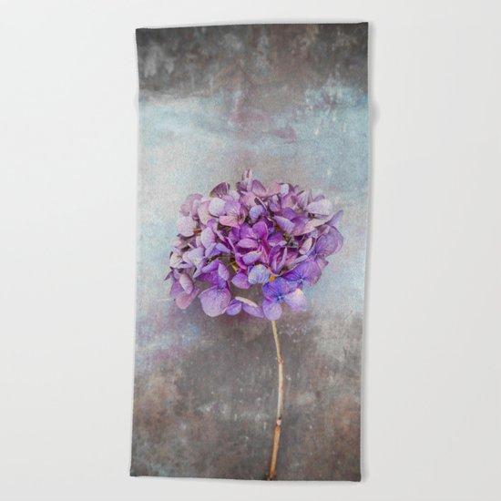 Beautiful Lilac Hydrangea Beach Towel