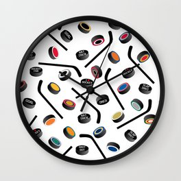 Let's Play Hockey Wall Clock