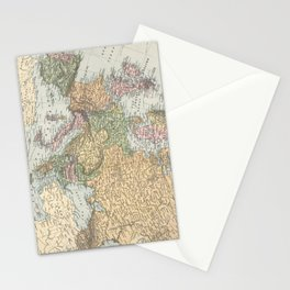 Vintage Map of Europe (1892) Stationery Cards