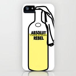 Absolut Rebel iPhone Case