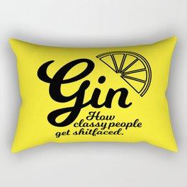 Gin. How classy people get shitfaced – Lemon Rectangular Pillow