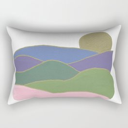 Golden Mountains Rectangular Pillow