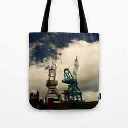 Harbor Crane Tote Bag