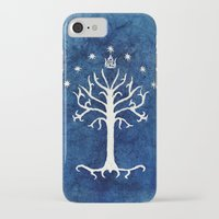 gondor iPhone & iPod Cases featuring The White Tree by Jackie Sullivan