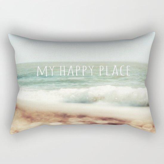 Beach - My Happy Place Rectangular Pillow