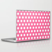 minnie mouse Laptop & iPad Skins featuring Minnie Mouse Dots | Pink by DisPrints