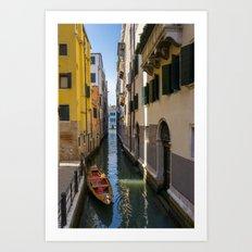 Boat in Venice Art Print