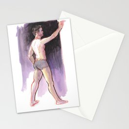 JAMES, Semi-Nude Male by Frank-Joseph Stationery Cards